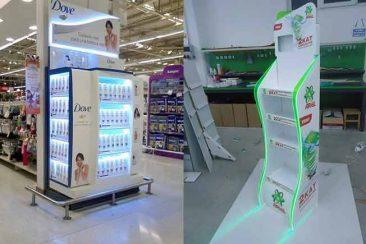 Ürün tanıtım standları, plastik standlar, ahşap tanıtım standı