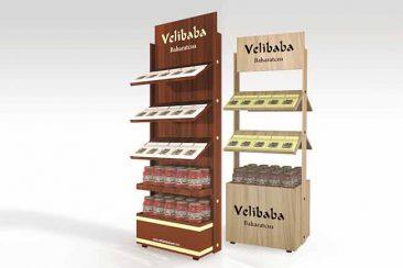 Ürün tanıtım standı, teşhir standları, tel ürün standları, ahşap standlar