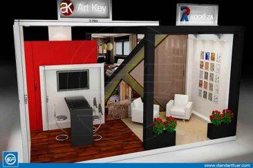 İzmir Fuar Stand Modelleri, Ahşap Fuar Standı, 3D Stand Tasarımları